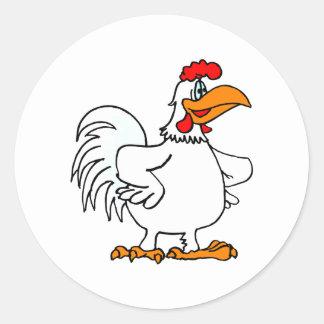 De Kip van Charmichael Ronde Sticker