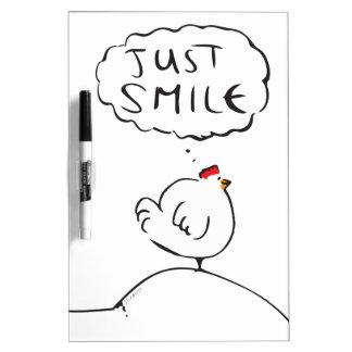 De Kip van de filosofie - enkel glimlach Whiteboard