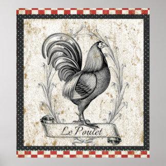 De Kip van le Poulet Vintage Poster