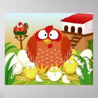 De kippenhaan van de kip in Mei Poster