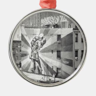 De Kissers fotomuurschildering, Highline NYC Zilverkleurig Rond Ornament