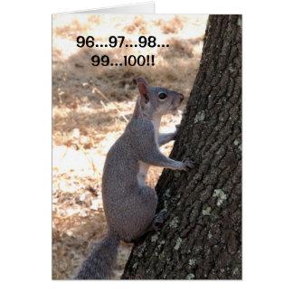 De klaar of niet Eekhoorn dankt u kaardt Kaart