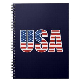 De klantgerichte Amerikaanse Vlag van de V.S. Ringband Notitie Boeken