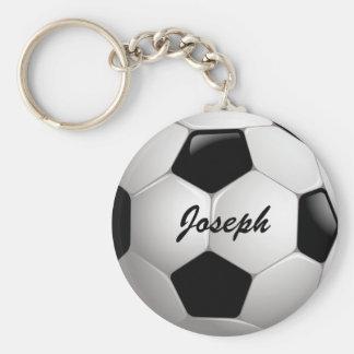 De klantgerichte Bal van het Voetbal van het Basic Ronde Button Sleutelhanger