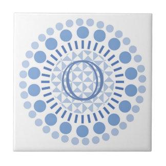 De klantgerichte Ceramiektegel van de Cirkels van Keramisch Tegeltje