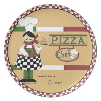 De klantgerichte Chef-kok van de Pizza Bord