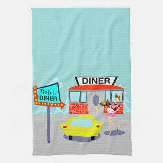 De klantgerichte Diner van jaren '50 Handdoek van
