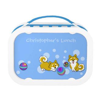 De klantgerichte Doos van de Lunch Shiba Inu en Lunchbox