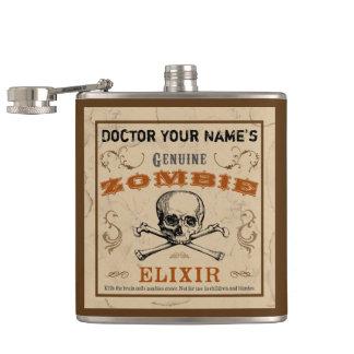 De Klantgerichte Fles van het Elixir van de zombie Heupfles