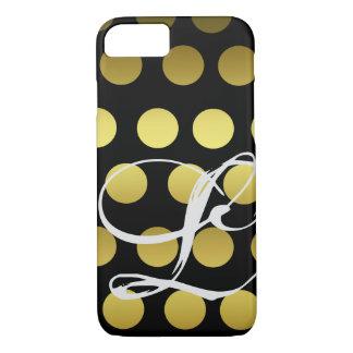 De klantgerichte Gouden en Zwarte Gradiënt van het iPhone 8/7 Hoesje