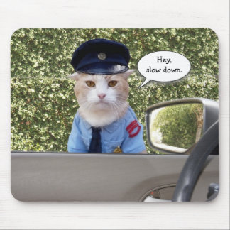 De klantgerichte Grappige Kat van de Ambtenaar Muismat