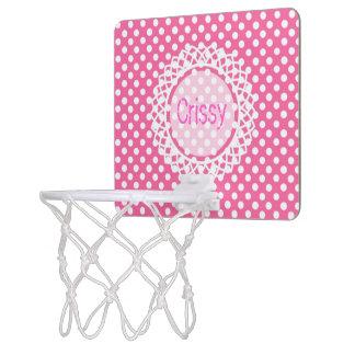 De klantgerichte Hoepel van het Monogram van de Mini Basketbalbord