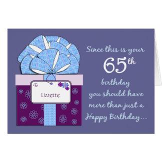 de Klantgerichte Kaart van de 65ste Verjaardag