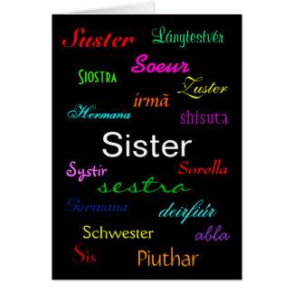De Klantgerichte Kaart Zuster van de Verjaardag va