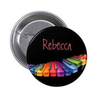 De klantgerichte Kleurrijke Sleutels van de Piano Ronde Button 5,7 Cm