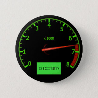 De klantgerichte knopen van de het gaspedaalnaam ronde button 5,7 cm