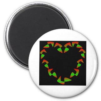 De Klantgerichte Kroon van het Hart van Kerstmis - Koelkast Magneet