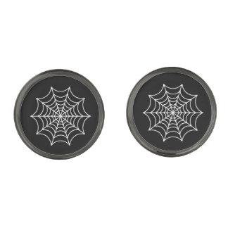 De klantgerichte Spinnewebben van Halloween Verbronsde Manchetknopen