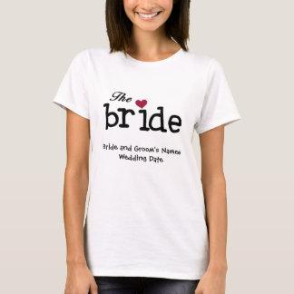De klantgerichte T-shirt van de Bruid