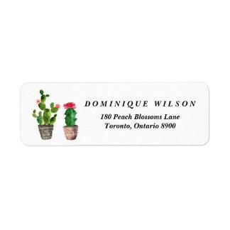 De Klantgerichte Terugkeer van Succulents van de Etiket