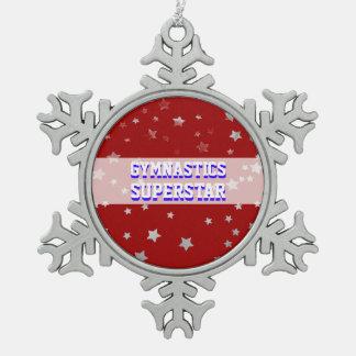 De klantgerichte Tuimelende Sterren van de Superst Tin Sneeuwvlok Ornament