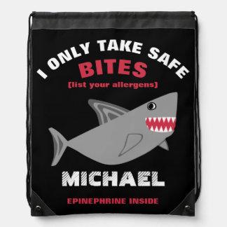 De klantgerichte Veelvoudige Zak van de Haai van Trekkoord Rugzakje