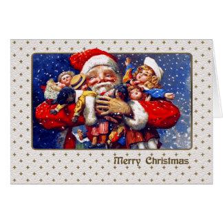 De klantgerichte Vintage Kerstkaart van de Briefkaarten 0