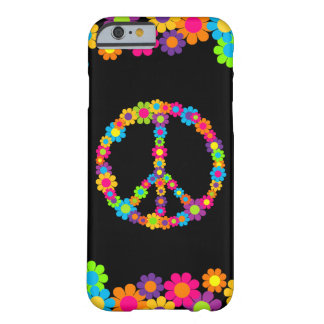 De klantgerichte Vrede van Flower power van de Pop Barely There iPhone 6 Hoesje