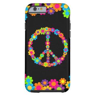 De klantgerichte Vrede van Flower power van de Pop Tough iPhone 6 Hoesje