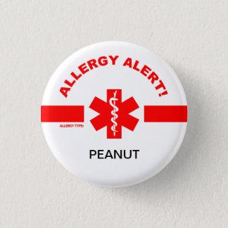 De klantgerichte Waakzame Speld van de Allergie Ronde Button 3,2 Cm