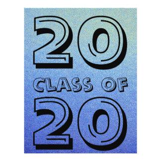 De klasse van het Verblinden Blauwe Ombre Flyer 21,6 X 27,9 Cm