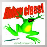 De klassenkikker van de biologie print