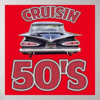 De klassieke Affiche van de Jaren '50 van Cruisin Poster