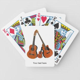 De klassieke Akoestische Baarzen en de Ukelele van Poker Kaarten