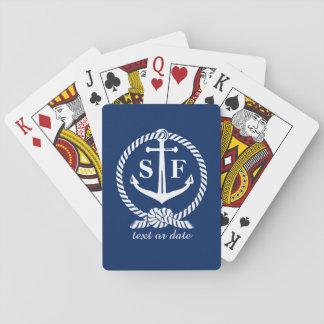 De klassieke Boot van het Strand van het Anker van Speelkaarten