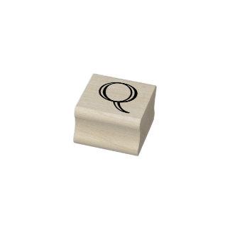 De klassieke Brief Q van het Monogram de Zegel van Rubberenstempel