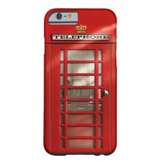 De klassieke Britse Rode Hoesjes van de Douane van Barely There iPhone 6 Hoesje