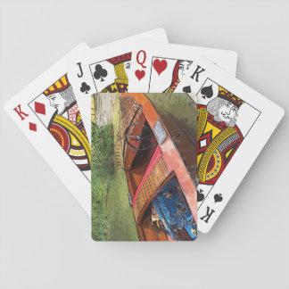 De klassieke druk van de mahonieboot op speelkaarten