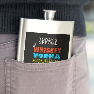 De klassieke grappige Whisky van de Keus van Flacon