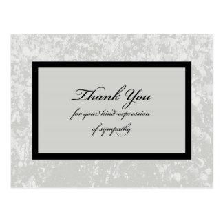 De klassieke Grijze Sympathie dankt u Briefkaart