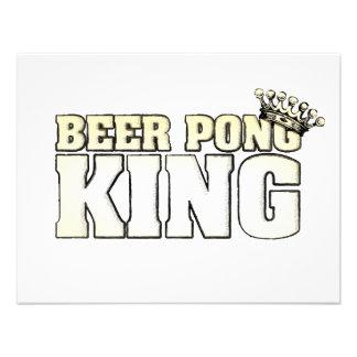 De klassieke Koning van Pong van het Bier Gepersonaliseerde Uitnodiging