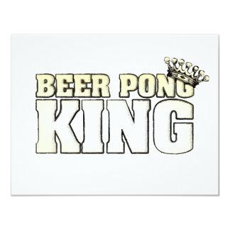 De klassieke Koning van Pong van het Bier 10,8x13,9 Uitnodiging Kaart