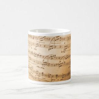 De klassieke mok van het Blad van de muziek