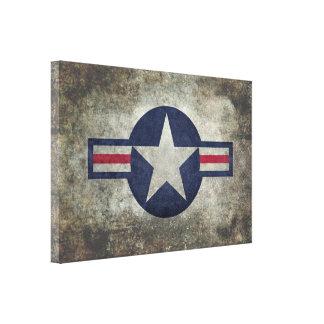 De Klassieke retro stijl Roundel van de USAF Canvas Print