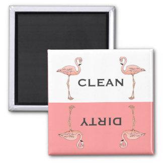De klassieke Roze Schone Vuile Afwasmachine van de Magneten