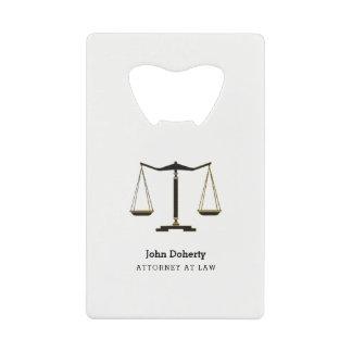 De Klassieke Schalen van de advocaat | van Creditkaart Flessenopener