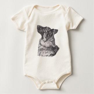 De klassieke Tekening van het het profielPortret Baby Shirt