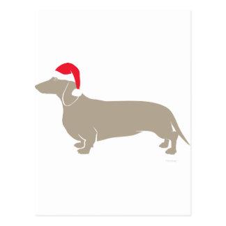 De klassieke Tekkel van Doxie van de Kerstman Briefkaart