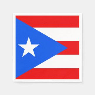 De klassieke Vlag van het Puerto Ricaan Wegwerp Servet