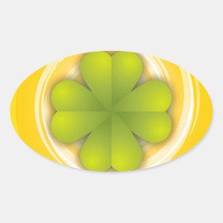 De Klaver van vier Blad Ovaalvormige Stickers